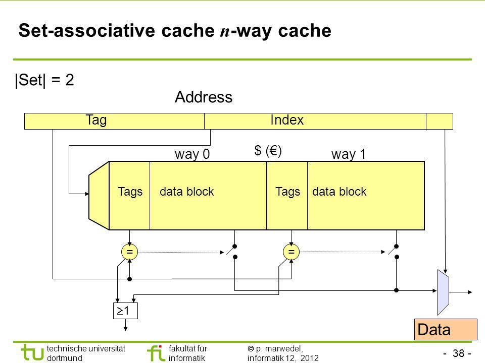 Set-associative cache n-way cache