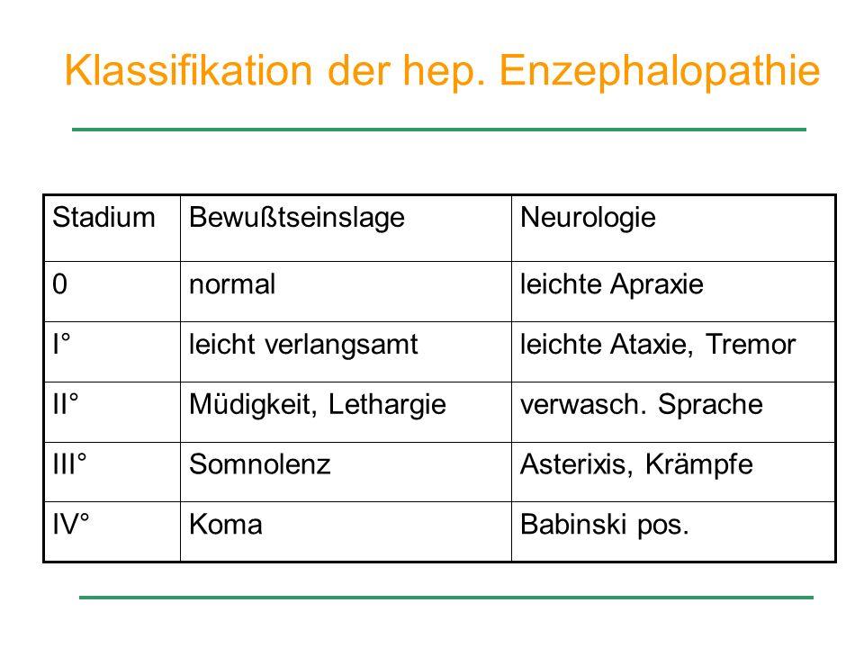 Klassifikation der hep. Enzephalopathie