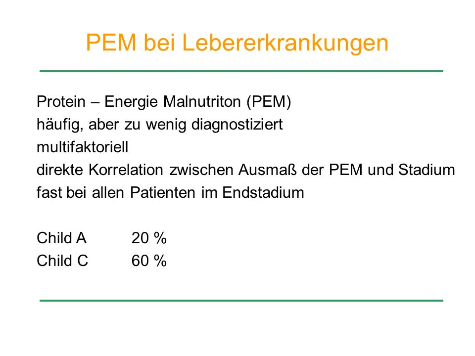 PEM bei Lebererkrankungen