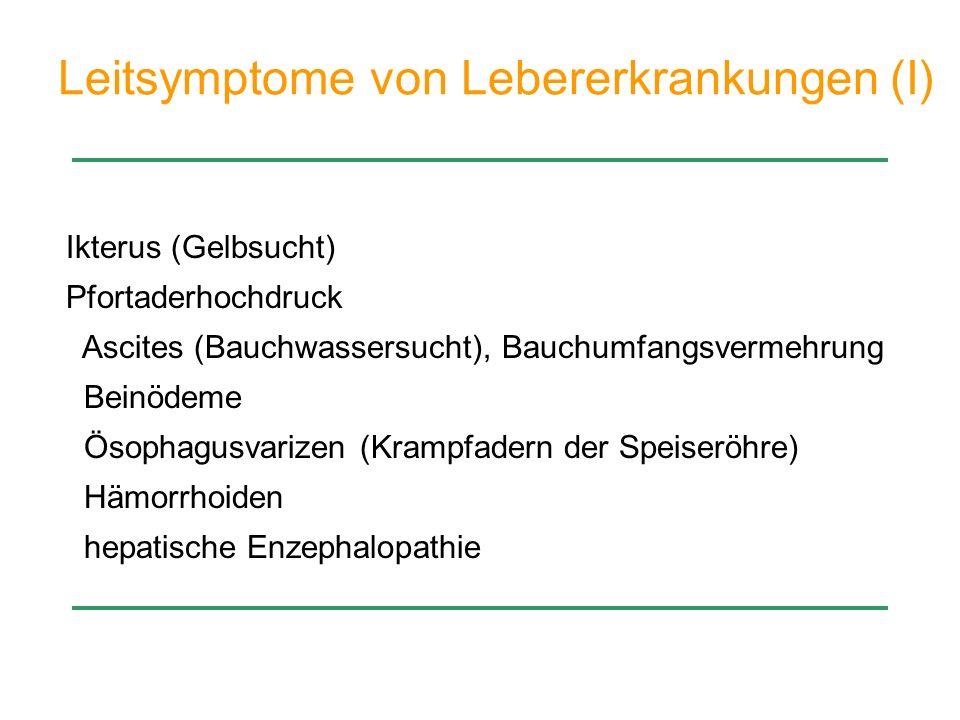 Leitsymptome von Lebererkrankungen (I)