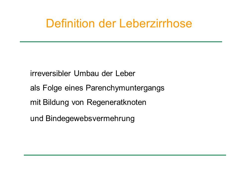 Definition der Leberzirrhose
