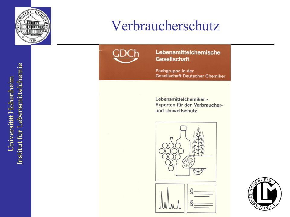 Verbraucherschutz Institut für Lebensmittelchemie