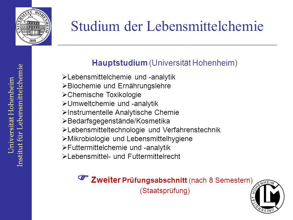 Studium der Lebensmittelchemie