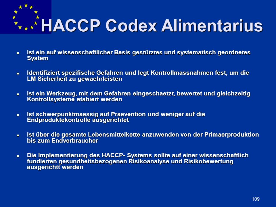 HACCP Codex Alimentarius