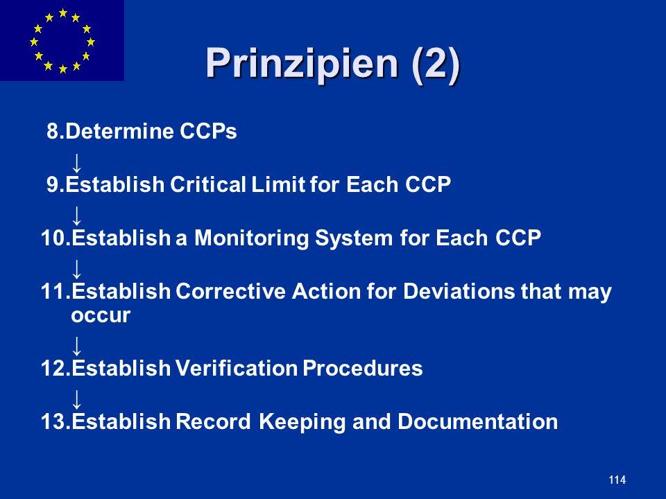 Prinzipien (2) 8. Determine CCPs ↓