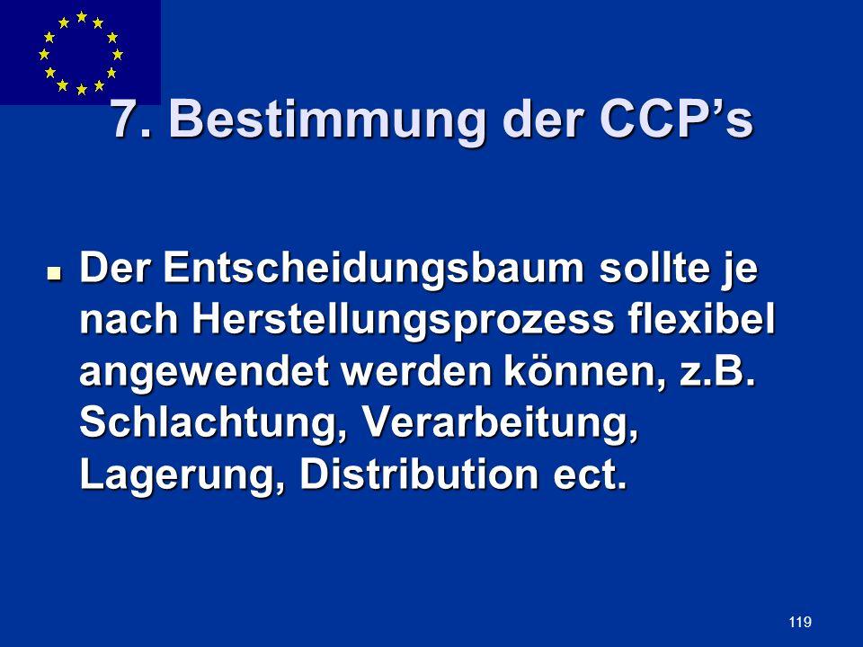 7. Bestimmung der CCP's
