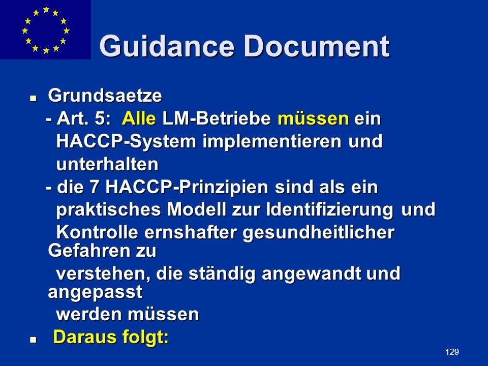 Guidance Document Grundsaetze - Art. 5: Alle LM-Betriebe müssen ein