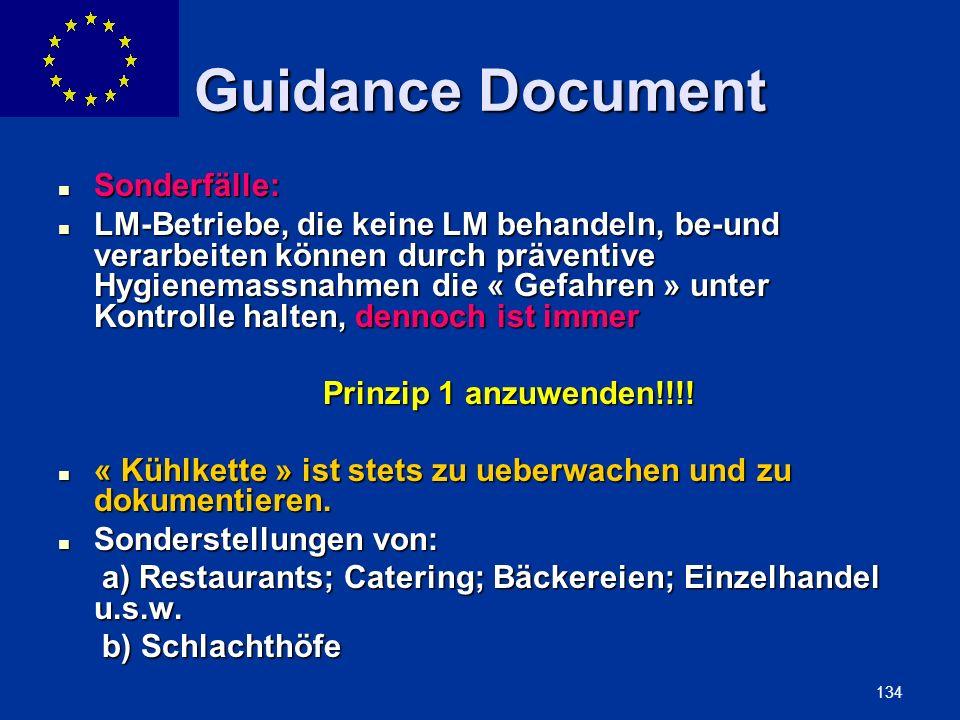 Guidance Document Sonderfälle: