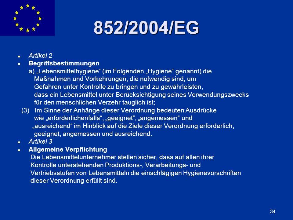 852/2004/EG Artikel 2 Begriffsbestimmungen