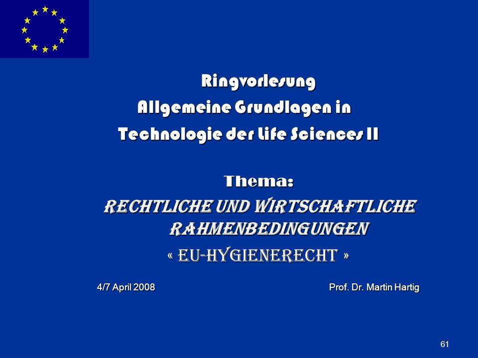 Allgemeine Grundlagen in Technologie der Life Sciences II