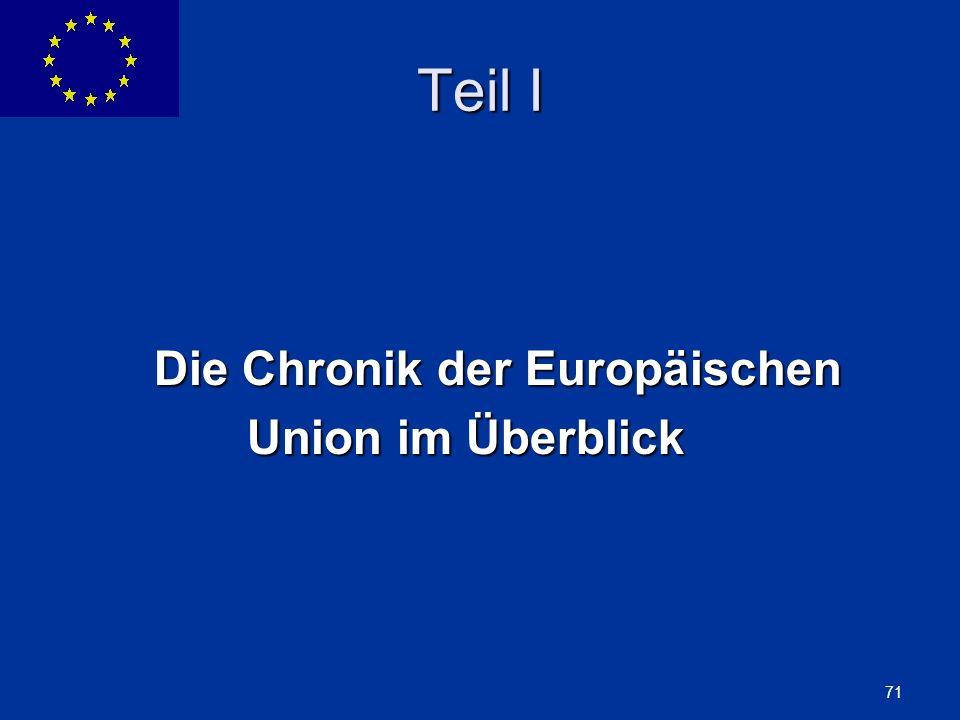 Teil I Die Chronik der Europäischen Union im Überblick