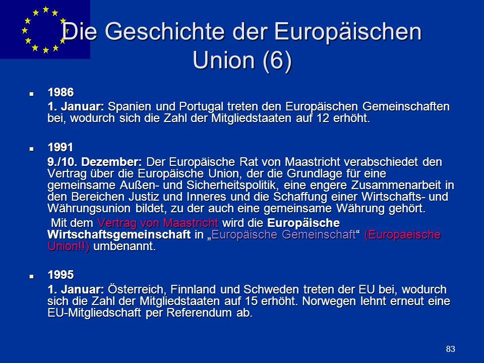 Die Geschichte der Europäischen Union (6)