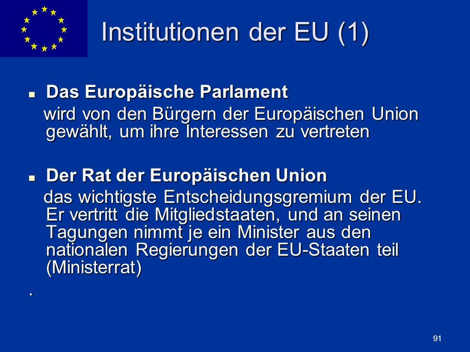 Institutionen der EU (1)