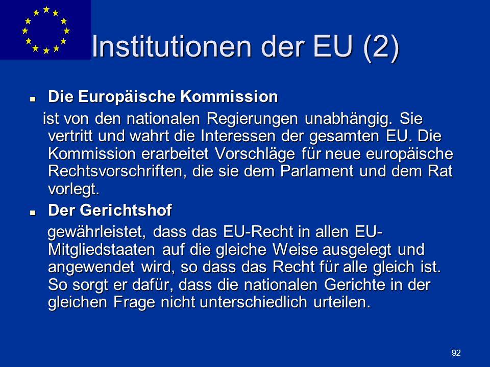 Institutionen der EU (2)