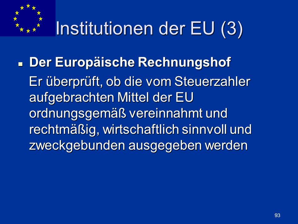 Institutionen der EU (3)