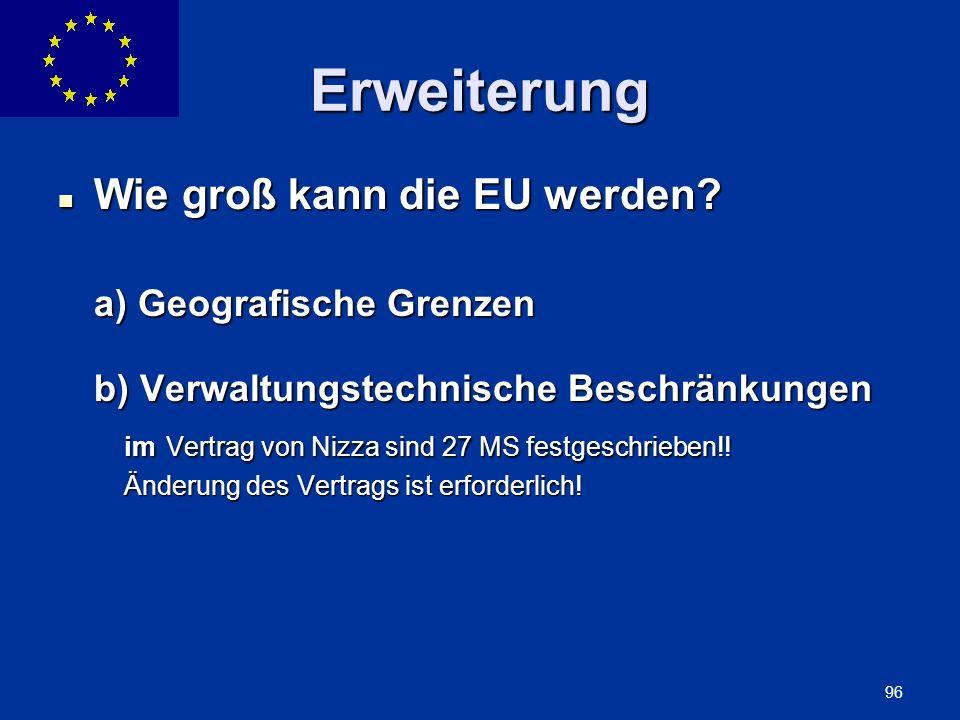 Erweiterung Wie groß kann die EU werden
