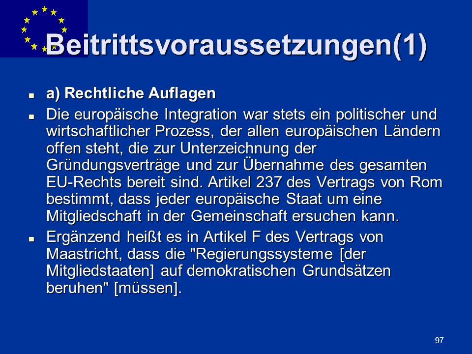 Beitrittsvoraussetzungen(1)