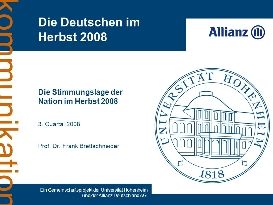 Die Deutschen im Herbst 2008