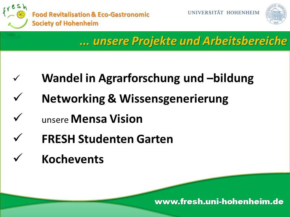 ... unsere Projekte und Arbeitsbereiche