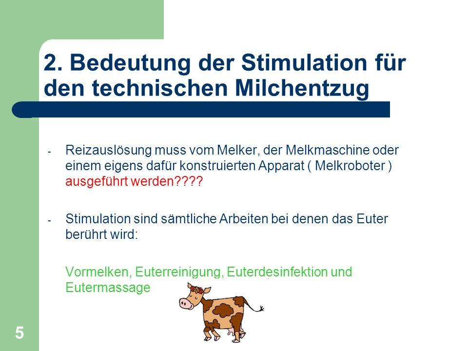2. Bedeutung der Stimulation für den technischen Milchentzug
