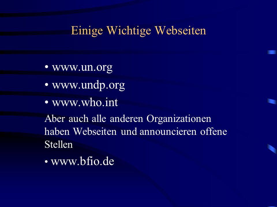 Einige Wichtige Webseiten