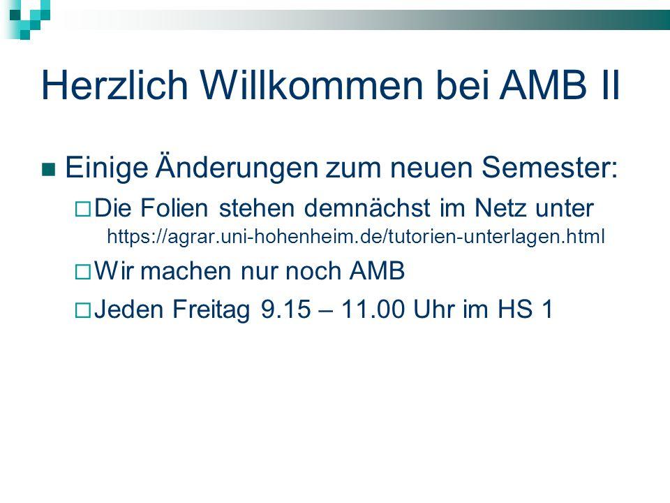 Herzlich Willkommen bei AMB II