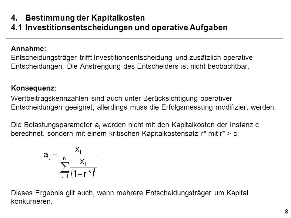 4. Bestimmung der Kapitalkosten 4. 1