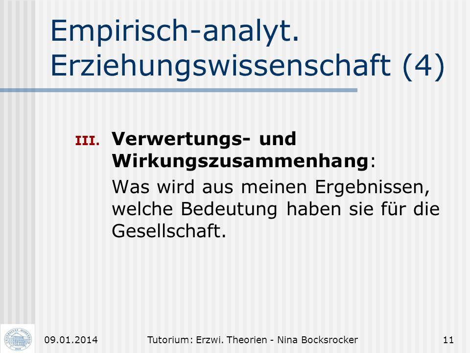 Empirisch-analyt. Erziehungswissenschaft (4)