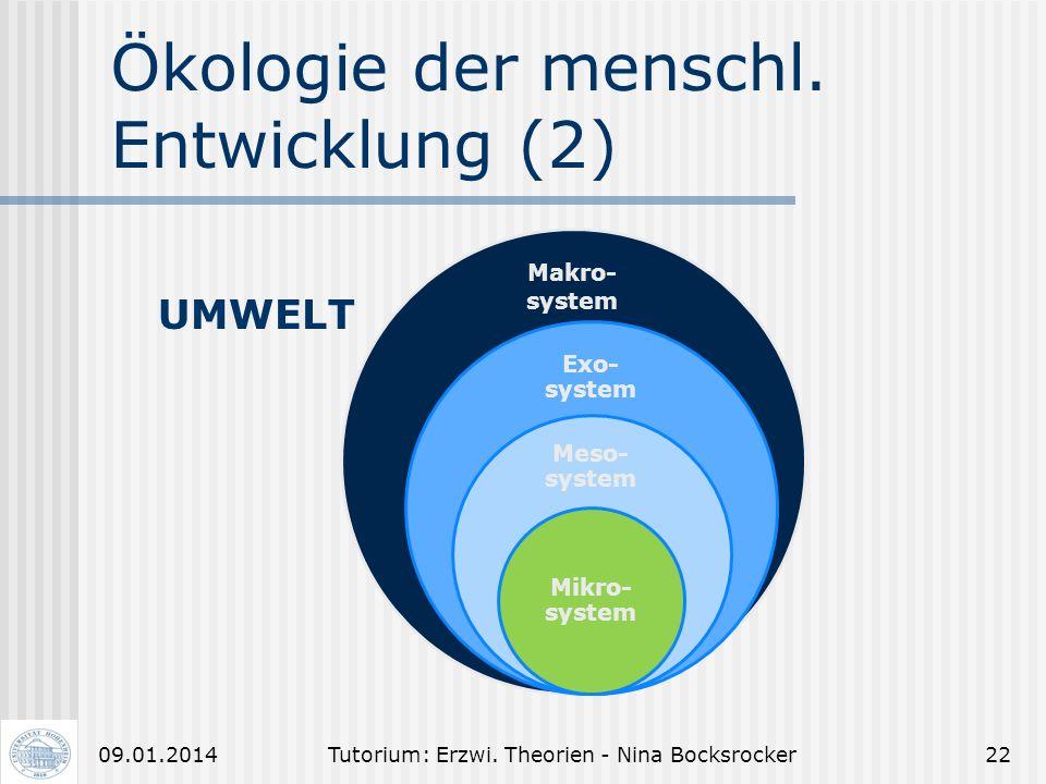 Ökologie der menschl. Entwicklung (2)