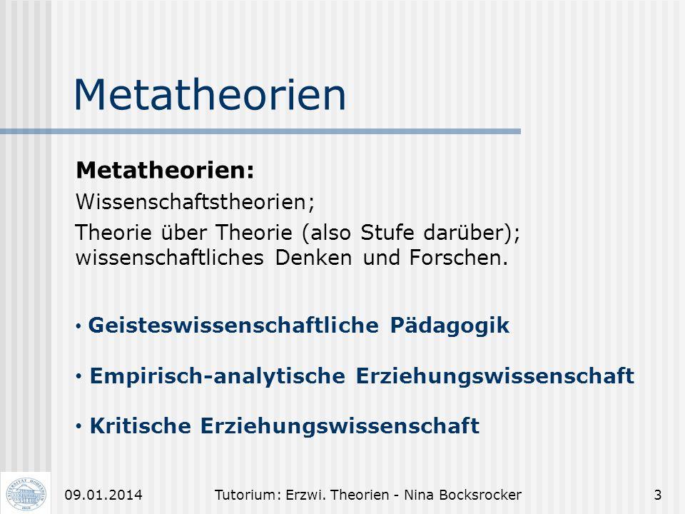 Tutorium: Erzwi. Theorien - Nina Bocksrocker