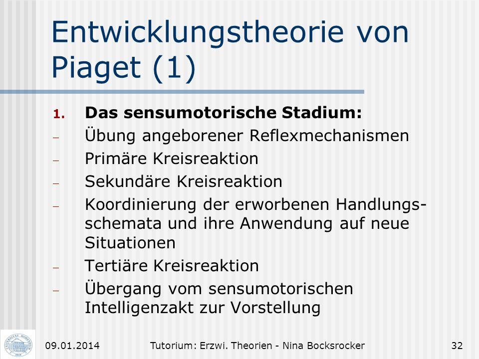 Entwicklungstheorie von Piaget (1)
