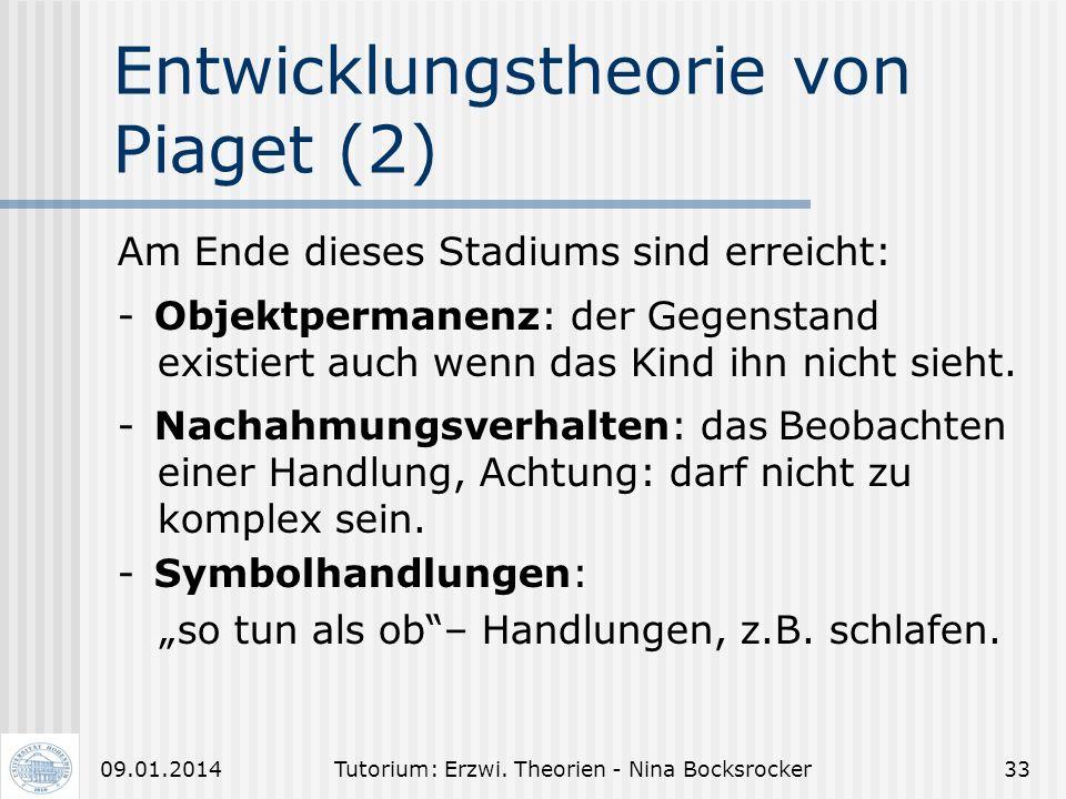 Entwicklungstheorie von Piaget (2)
