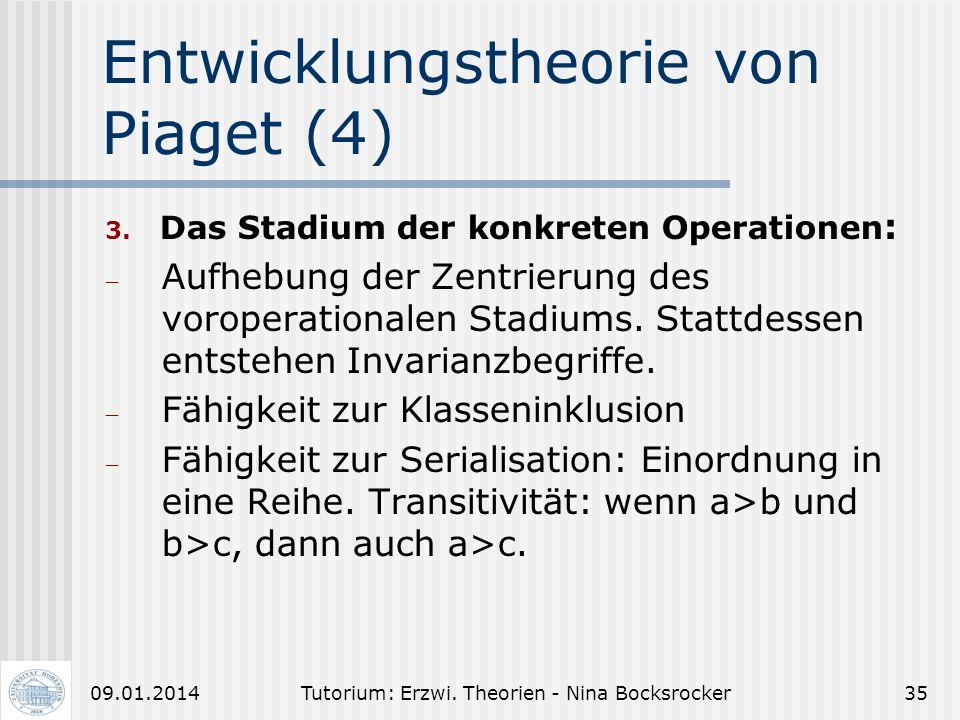 Entwicklungstheorie von Piaget (4)