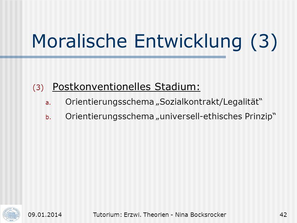 Moralische Entwicklung (3)