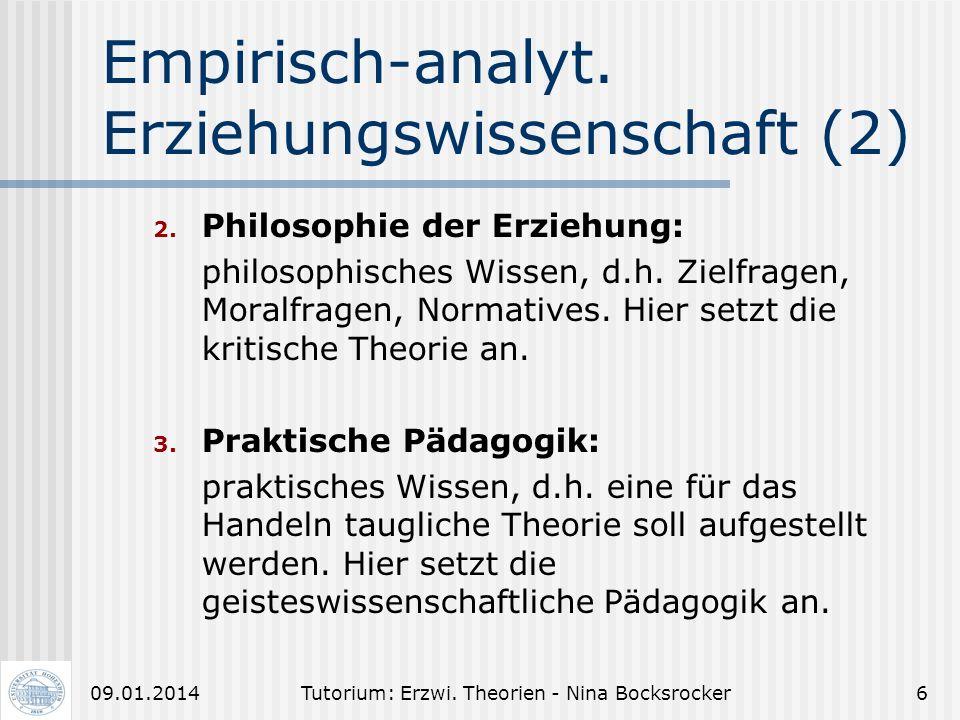 Empirisch-analyt. Erziehungswissenschaft (2)