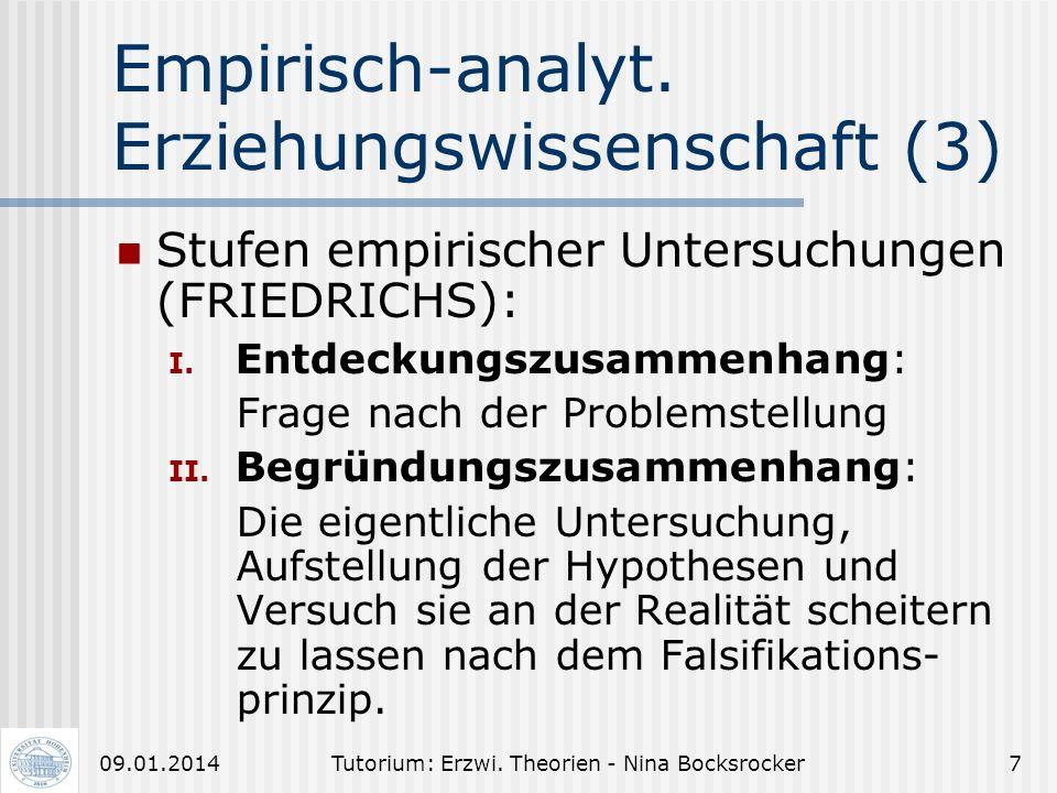 Empirisch-analyt. Erziehungswissenschaft (3)