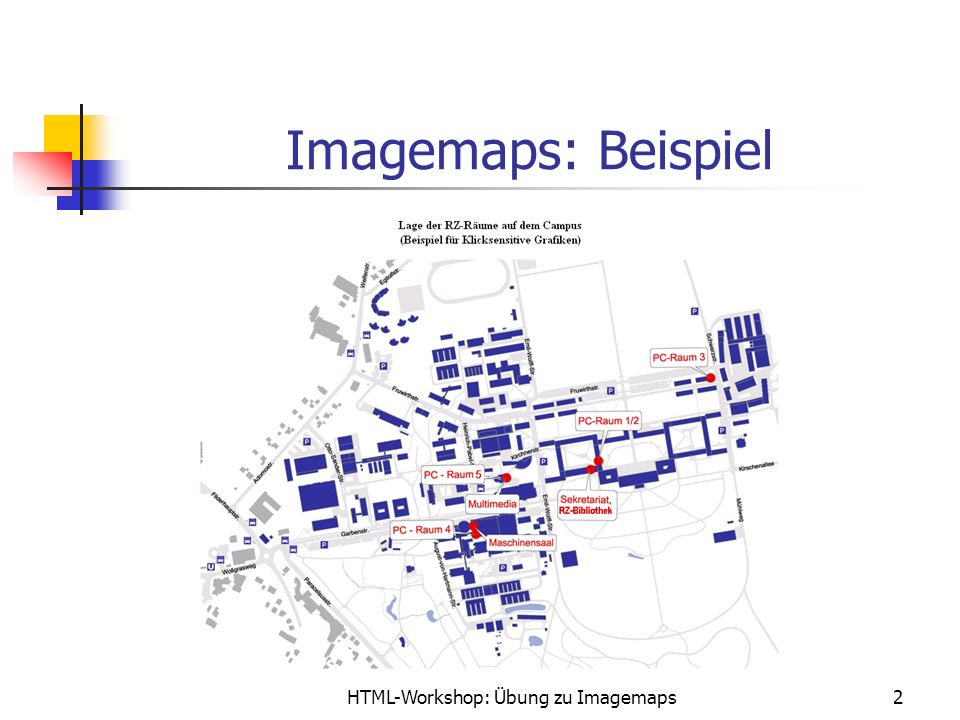 HTML-Workshop: Übung zu Imagemaps