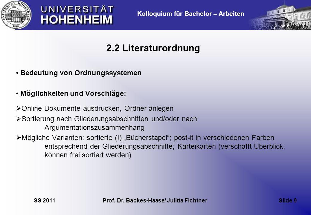 Prof. Dr. Backes-Haase/ Julitta Fichtner