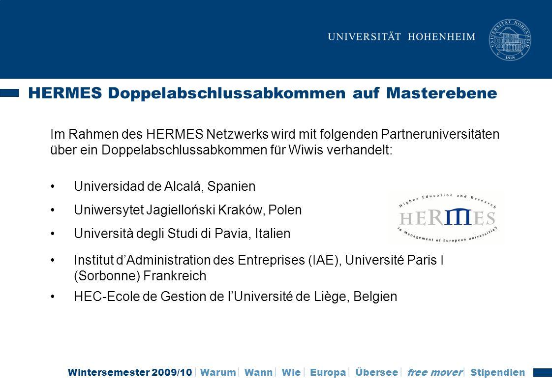 HERMES Doppelabschlussabkommen auf Masterebene