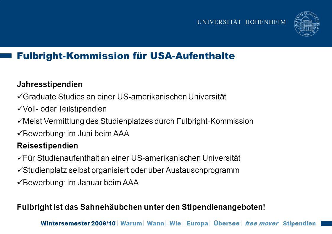 Fulbright-Kommission für USA-Aufenthalte