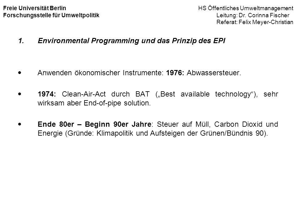 Environmental Programming und das Prinzip des EPI
