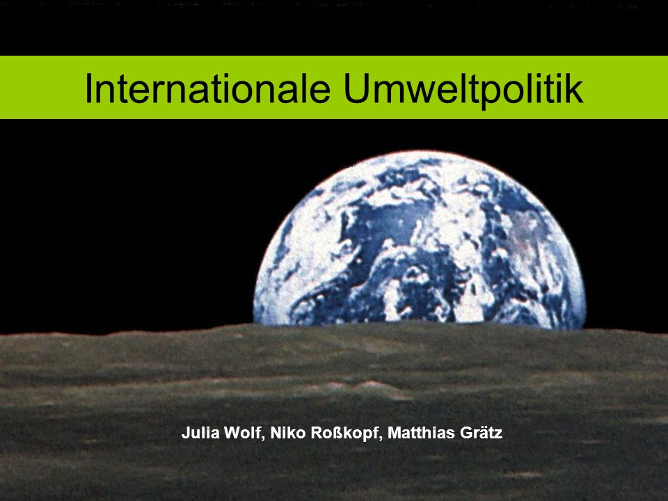 Internationale Umweltpolitik