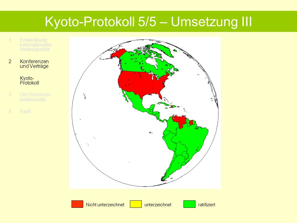Kyoto-Protokoll 5/5 – Umsetzung III