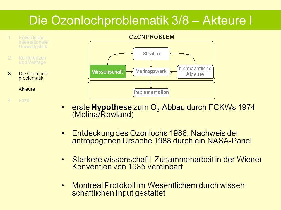Die Ozonlochproblematik 3/8 – Akteure I