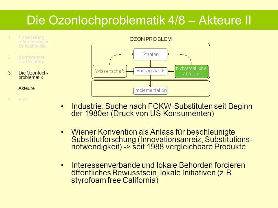 Die Ozonlochproblematik 4/8 – Akteure II