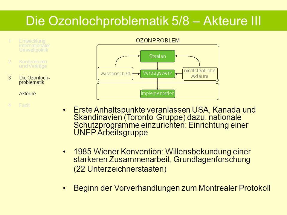 Die Ozonlochproblematik 5/8 – Akteure III
