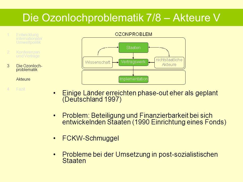 Die Ozonlochproblematik 7/8 – Akteure V