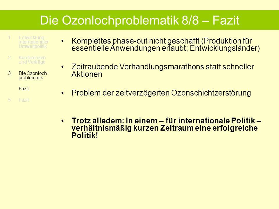 Die Ozonlochproblematik 8/8 – Fazit