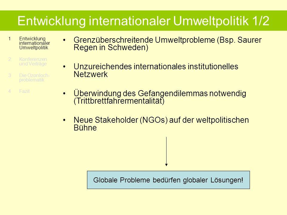 Entwicklung internationaler Umweltpolitik 1/2