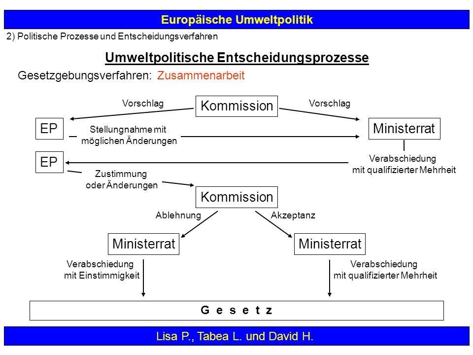 Umweltpolitische Entscheidungsprozesse